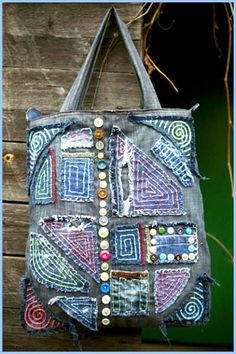denim bag with your hands 45 bags here no patterns but lots of ideas
