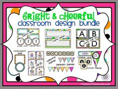 BRIGHT & CHEERFUL - classroom design bundle (polka dot theme). I've designed a collection of classroom decor products for teachers who want to make their classroom cohesive without doing an over-the-top theme.