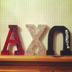Glittered up letters!