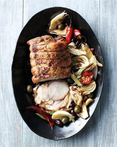 Roast Pork with Fennel, Chiles, and Olives Recipe