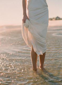 pretty, simple beach wedding dress - Photography by elizabethmessina.com