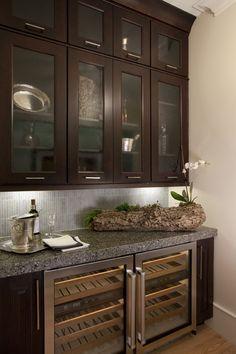 butler's pantry, wine storage plus glass doors