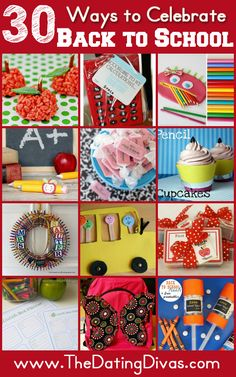 This 'Back to-School' Round-up features 30+ crafts, treats, and teacher gifts. Plus loads of FREE printables! www.TheDatingDivas.com #printables #backtoschool #DIY