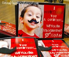 Love this idea for Valentine's Day holiday, valentine day ideas, monkeys, kids treats, valentine day cards, craft monkey, valentine cards, valentine ideas, crafts