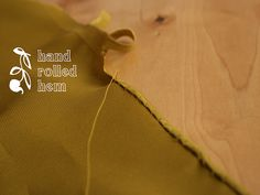 Hand Rolled Hem Tutorial