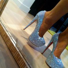 prom shoes, fashion, wedding shoes, sparkly shoes, heel, glitter shoes, christian louboutin, baby blues, bling bling