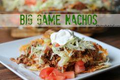 Big Game Nachos recipe from @Liz Mays (A Nut in a Nutshell)