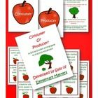 This is a Social Studies sorting game to practice the vocabulary consumer and producer.  Children will sort the task cards onto the apples that say...