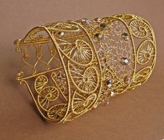 Greek wire woven bracelet |