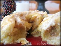 pumpkin spiced cream cheese breakfast rolls...