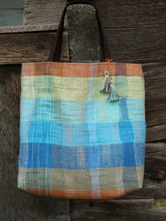 Handwoven Spring/ Summer Tote Bag