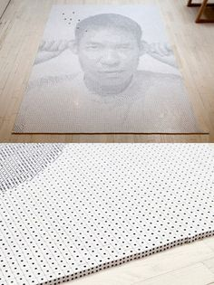 A Portrait Made Out Of 13,138 Dice