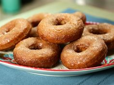 Try this recipe for Homemade Donuts with Apple Cider Glaze and Cinnamon Sugar from Kimberly's Simply Southern featured on GAC!