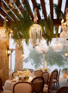 Elegant vineyard wedding decorations.