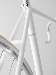 clean white bike frame