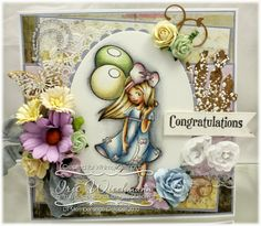 Whimsy Stamps card by Iris Wiechmann using Elisabeth Bells 'Zoe Butterfly', SC Designs 'Life's Moments', Michele Roos Designs 'Vintage Basic' & 'In the Garden' papers, Raindrop Echo Designs 'Picket Fence' die & 'Vines Die Set'
