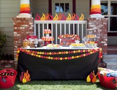 Fire decor - BBQ or firefighter party?