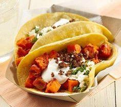 Gluten Free Harissa Roasted Sweet Potato Tacos