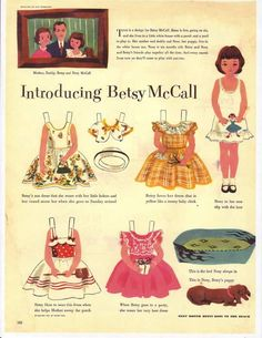 Vintage Betsy McCall Paper Dolls