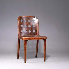Josef Hoffmann; Beechwood Chair for Thonet, 1929.