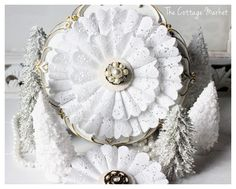 DIY:: Paper Doily Wreaths  and   Ornaments !