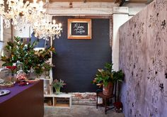 Madame Truffles pop-up shop in Melbourne - check out the AMAZING gilt acorn wallpaper.