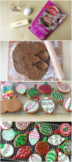 Gingerbread #Christmas Ornament Cookies #bettycrocker