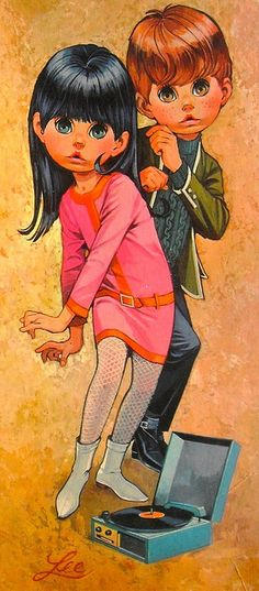 Keane children - prints like these were all over SF in the late 1960s - by Margaret Keane - More at http://www.keane-eyes.com/