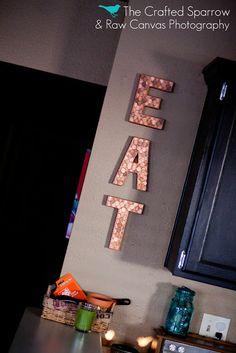 Another simple craft day idea. Paper mâché letters, copper color paint