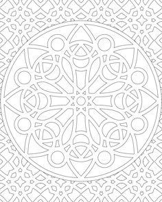 Don't Eat the Paste: 11-27-11 Mandala design to color