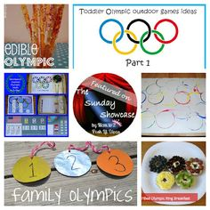 Olympic themed food, crafts, learning & fun for kids.