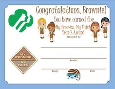 free printable girl scout certificates learning the girl ...