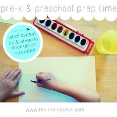 July-Sept is Pre-K and Preschool Prep Time: what to prep and where to stock up on a budget www.the-red-kitchen.com