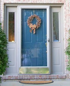 simple, easy front door.  Paint it our own color