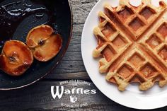 Brown Sugar Buttermilk Waffles with Caramelised Apples