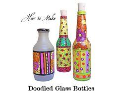 How To Make Doodled Glass Bottles