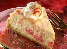 KISSES Candy Cane Swirl Cheesecake