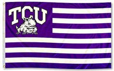 Pledge Allegiance to the Horned Frog Flag of TCU