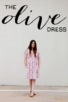 The Olive Dress using Spring Street by Dear Stella | see kate sew
