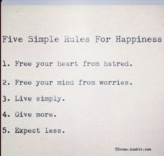 I will try my very best to live this way every day