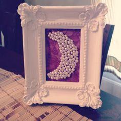 do you love the crescent moon!? #DIY #gammaphibeta frame