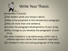 Developing a working thesis
