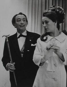 Salvador Dali and Ultra Violet. Photo by Vladimir Sladon, 1969.
