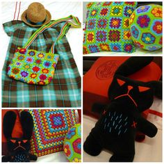 pigtails: Hexagon & Granny's Soccer Ball Cushion and Handbag