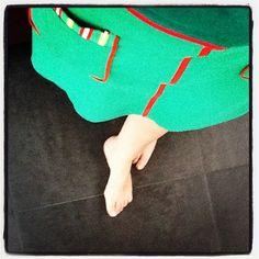 vermoeide voeten na een weekend feestgedruis