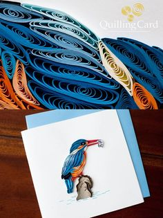 Beautiful quilled Bird - by: Quilling Card-FB