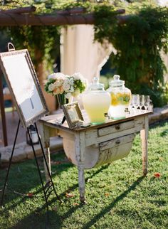 love this for ceremony refreshments. Found Vintage Rentals
