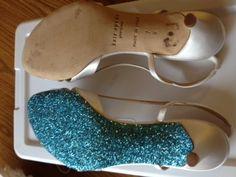 glitter bottom shoes <3 :  wedding glitter shoes something blue Photo 1