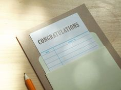Library Congratulations Card
