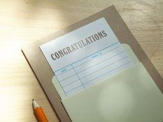 Library Congratulations Card